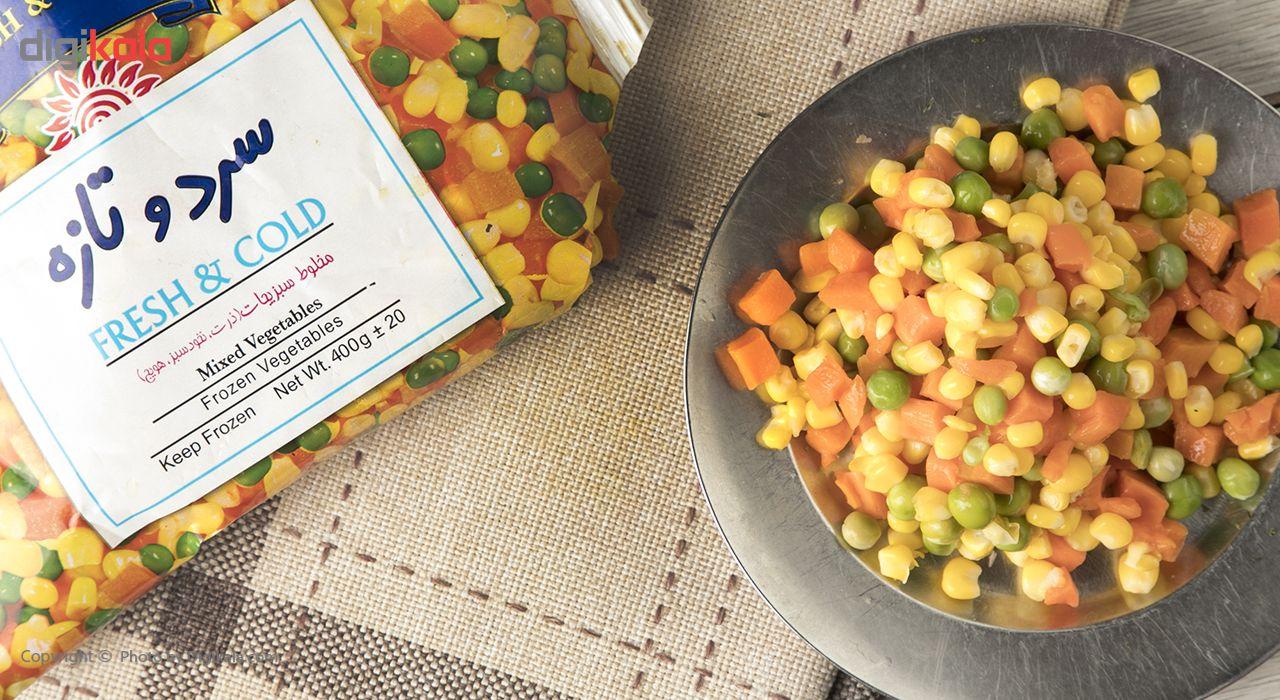 مخلوط سبزیجات منجمد سرد و تازه مقدار 400 گرم main 1 1
