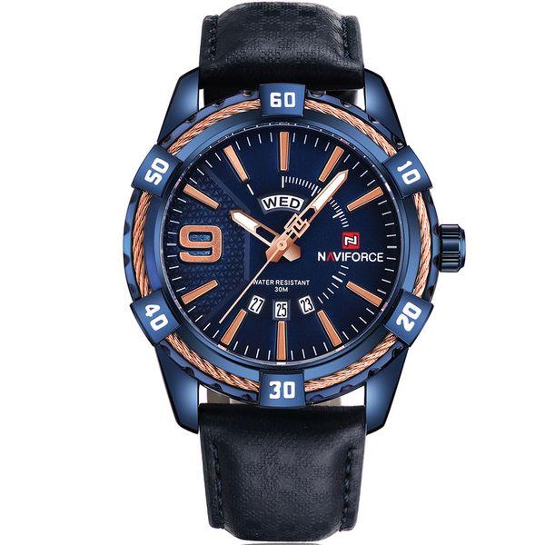 ساعت مچی عقربه ای مردانه نیوی فورس مدل NF9117M/BBGG | Naviforce NF9117M/BBGG Watch For Men