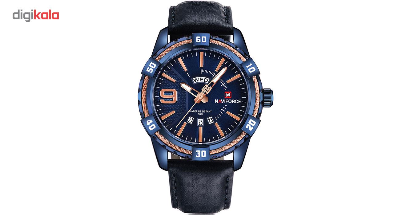 خرید ساعت مچی عقربه ای مردانه نیوی فورس مدل NF9117LBEBE