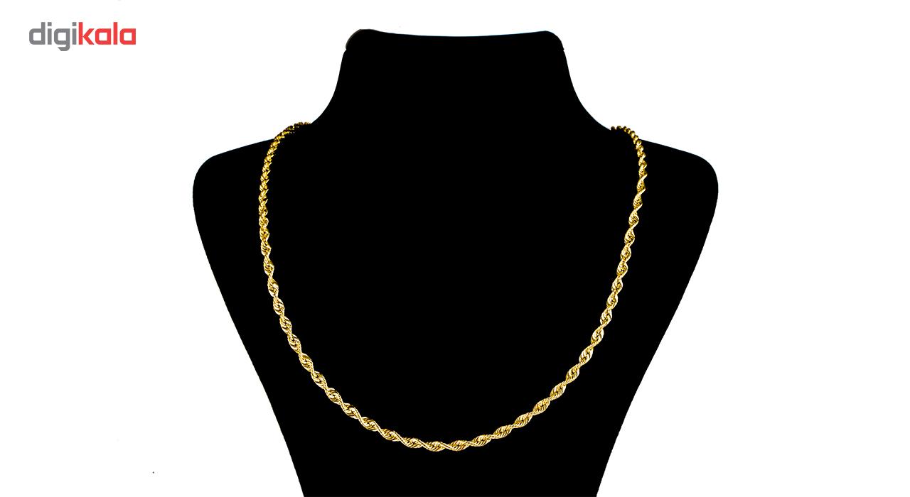 زنجیر طلا 18 عیار طرح مارپیچ ضخیم