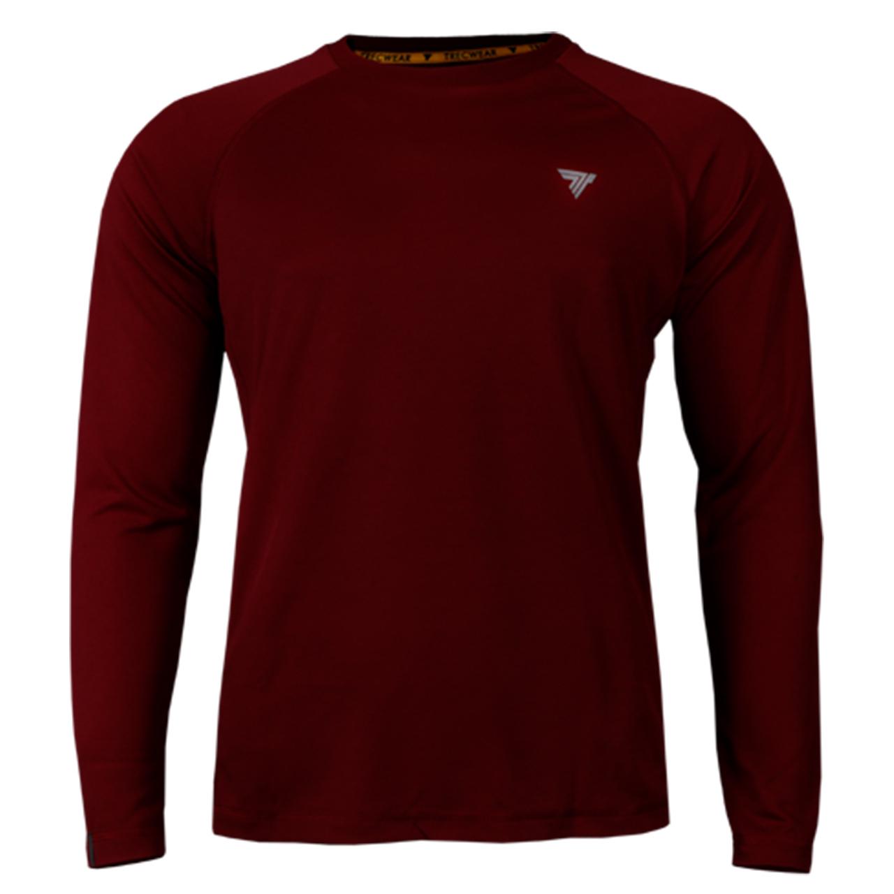 تی شرت آستین بلند مردانه ترک ویر مدل Cooltrec 014 Maroon