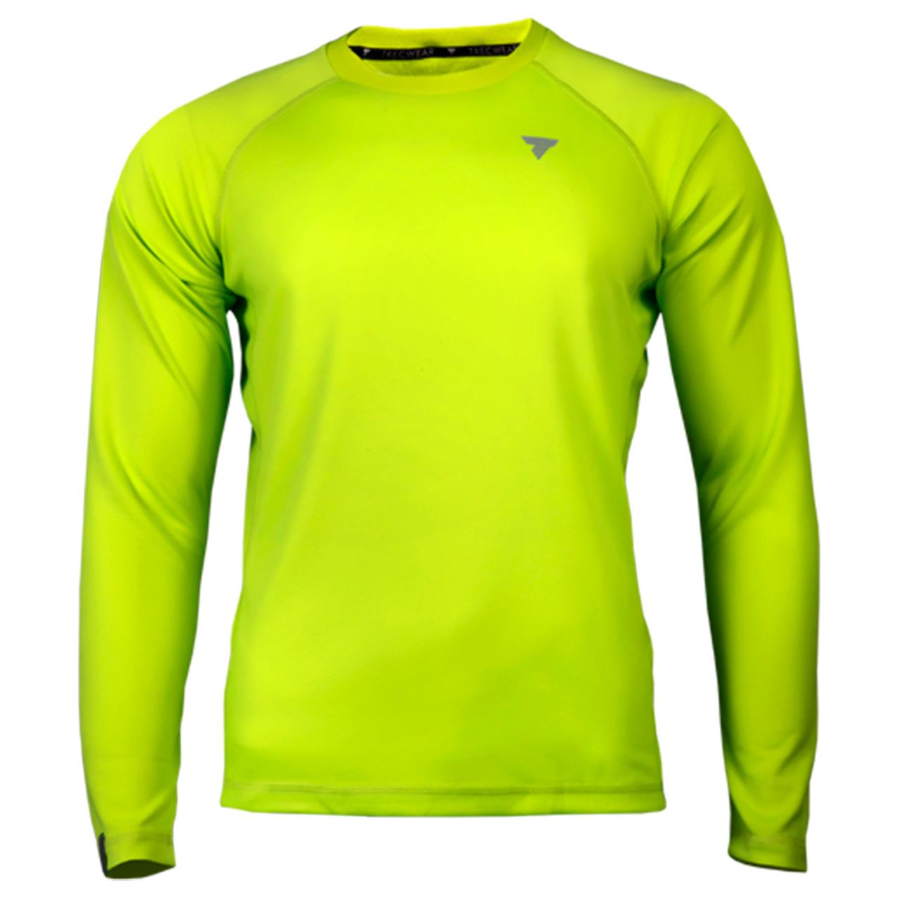 تیشرت آستین بلند ورزشی مردانه ترِک ویر مدل Cooltrec 018 Bright Green