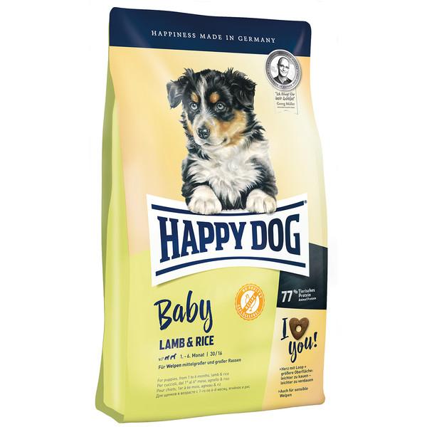 غذای خشک هپی داگ توله سگ حاوی گوشت بره و برنج 10 کیلویی