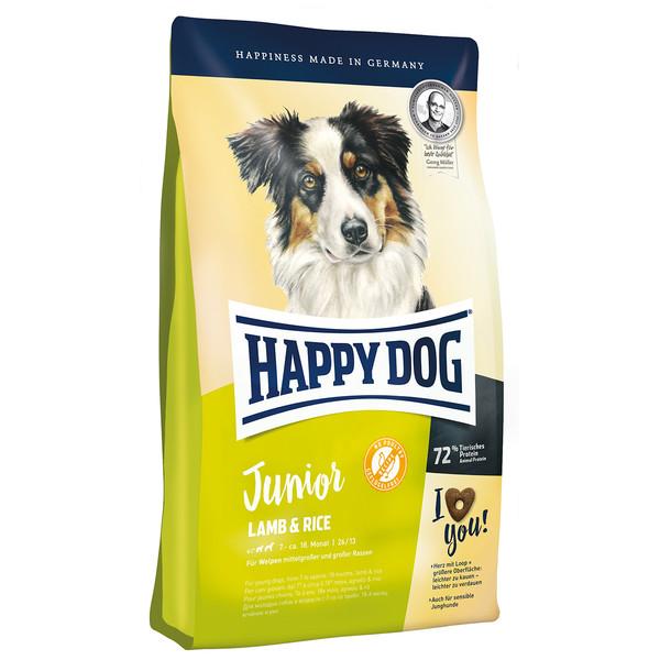 غذای خشک هپی داگ سگ جوان حاوی گوشت بره و برنج 10 کیلویی