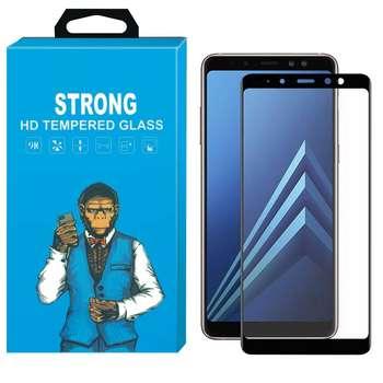 محافظ صفحه نمایش شیشه ای استرانگ مدل Fullcover مناسب برای گوشی سامسونگ گلکسی A8 Plus 2018