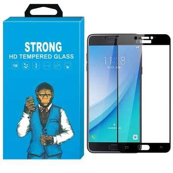 محافظ صفحه نمایش شیشه ای استرانگ مدل Fullcover مناسب برای گوشی سامسونگ گلکسی C7 Pro
