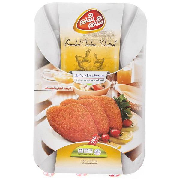 شنیسل مرغ سوخاری شام شام مقدار 500 گرم