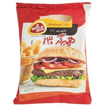 همبرگر 30% شام شام مقدار 500 گرم