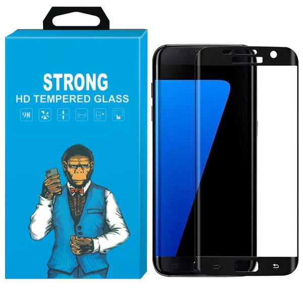 محافظ صفحه نمایش شیشه ای دورچسب استرانگ مدل Hyper Fullcover مناسب برای گوشی سامسونگ گلکسی S7 Edge