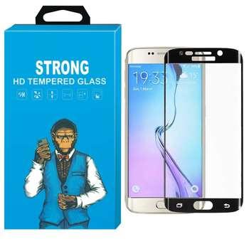 محافظ صفحه نمایش شیشه ای استرانگ مدل Fullcover مناسب برای گوشی سامسونگ گلکسی S6 Edge
