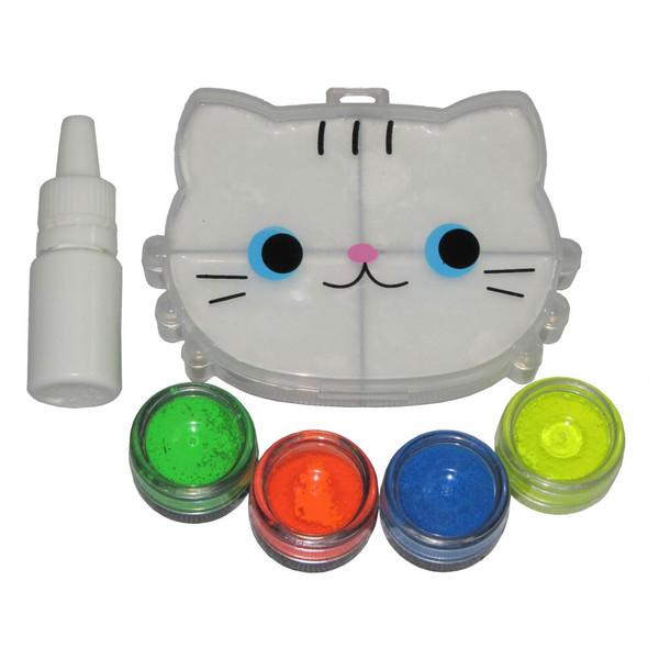 پک رنگ آمیزی اسلایم مدل kitty خامه ای