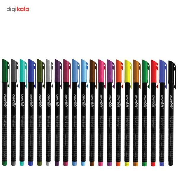 قیمت خرید روان نویس 20 رنگ اونر مدل Fineliner 0.4mm 20 اورجینال