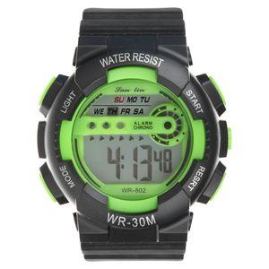 ساعت مچی دیجیتال لن لین مدل WR30M GR -گالری مارنا