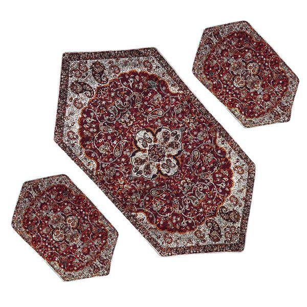 ست سه تکه رومیزی ترمه مدل شاه عباسی کد AS3-3