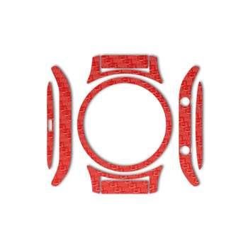 بسته 2 عددی برچسب ماهوت مدل Red Carbon-fiber مناسب برای ساعت هوشمند Samsung Gear S3 Classic