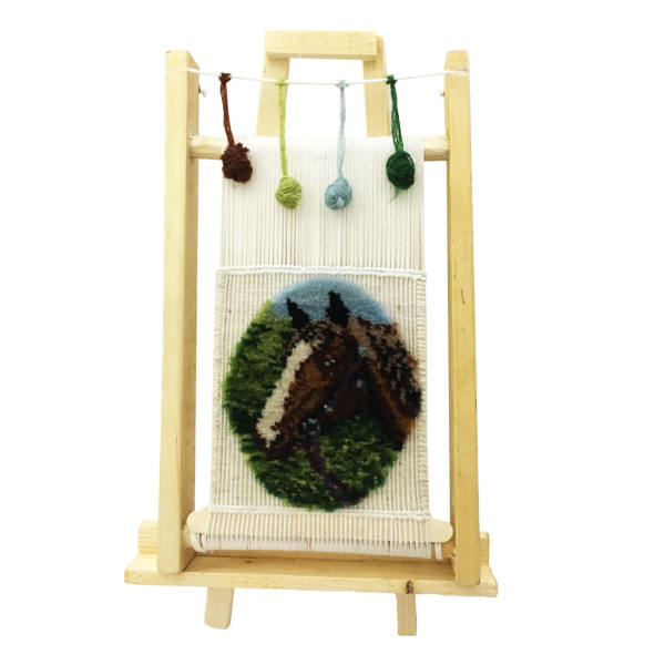 دارچوبک فرش دستباف مدل طرح اسب کد 19