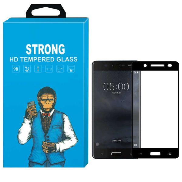 محافظ صفحه نمایش شیشه ای استرانگ مدل Fullcover مناسب برای گوشی نوکیا 5