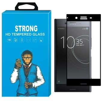 تصویر محافظ صفحه نمایش شیشه ای استرانگ مدل Fullcover مناسب برای گوشی سونی اکسپریا XZ Premium Sony Xperia XZ Premium Fullcover Glass Screen Preotector
