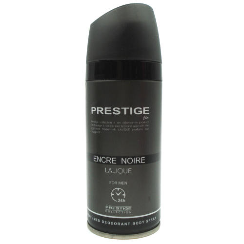 اسپری خوشبو کننده بدن مردانه پرستیژ مدل Encre Noire Lalique حجم 150 میلی لیتر