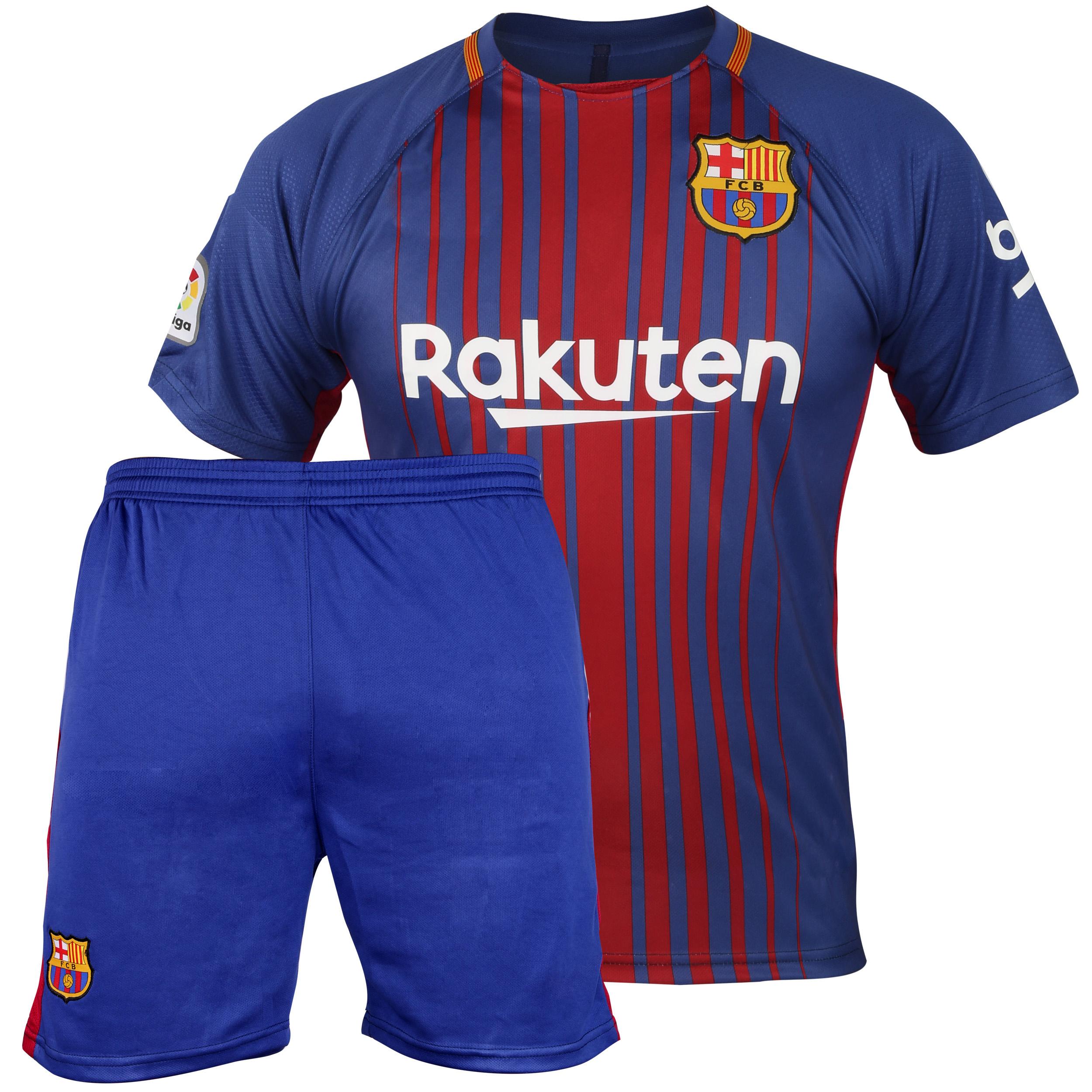پیراهن و شورت تیم بارسلونا مدل  18-2017 home