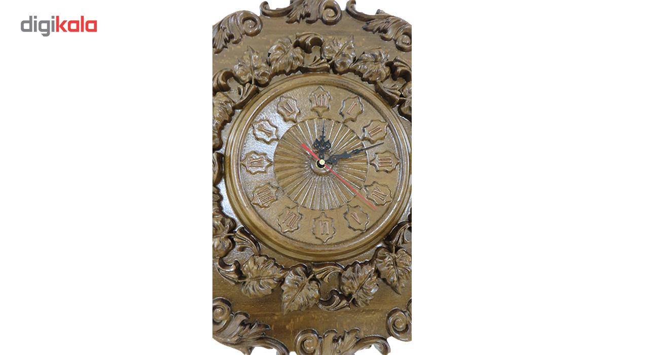 ساعت دیواری چوبی کد1006