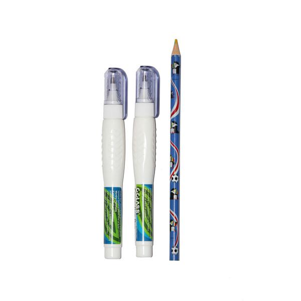 لاک غلط گیر سی کلاس بسته دو عددی به همراه یک مداد 4 رنگ