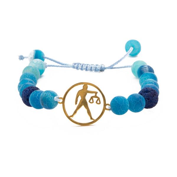 دستبند نوژین مدل ماه تولد مهر میزان B036