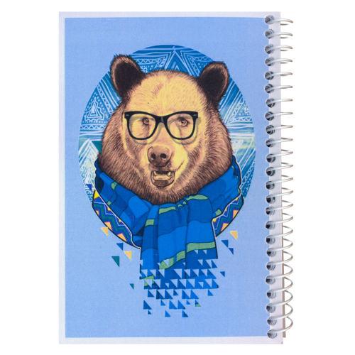 دفترچه یادداشت مدل کژوال طرح خرس خوشتیپ سایز متوسط