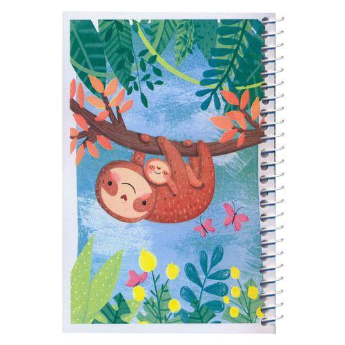 دفترچه یادداشت مدل کژوال طرح میمون های بازیگوش سایز متوسط