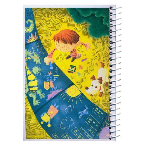 دفترچه یادداشت مدل کژوال طرح دنیای کودکانه سایز متوسط