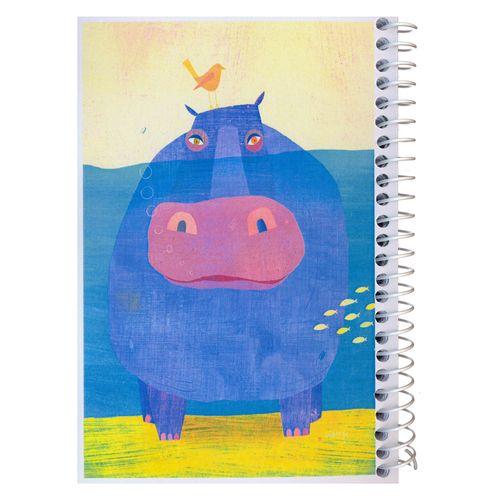 دفترچه یادداشت مدل کژوال طرح اسب آبی در روز تعطیل سایز متوسط