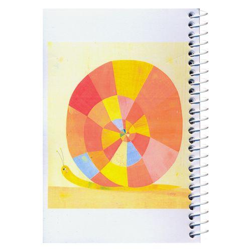 دفترچه یادداشت مدل کژوال طرح حلزون رنگارنگ سایز متوسط