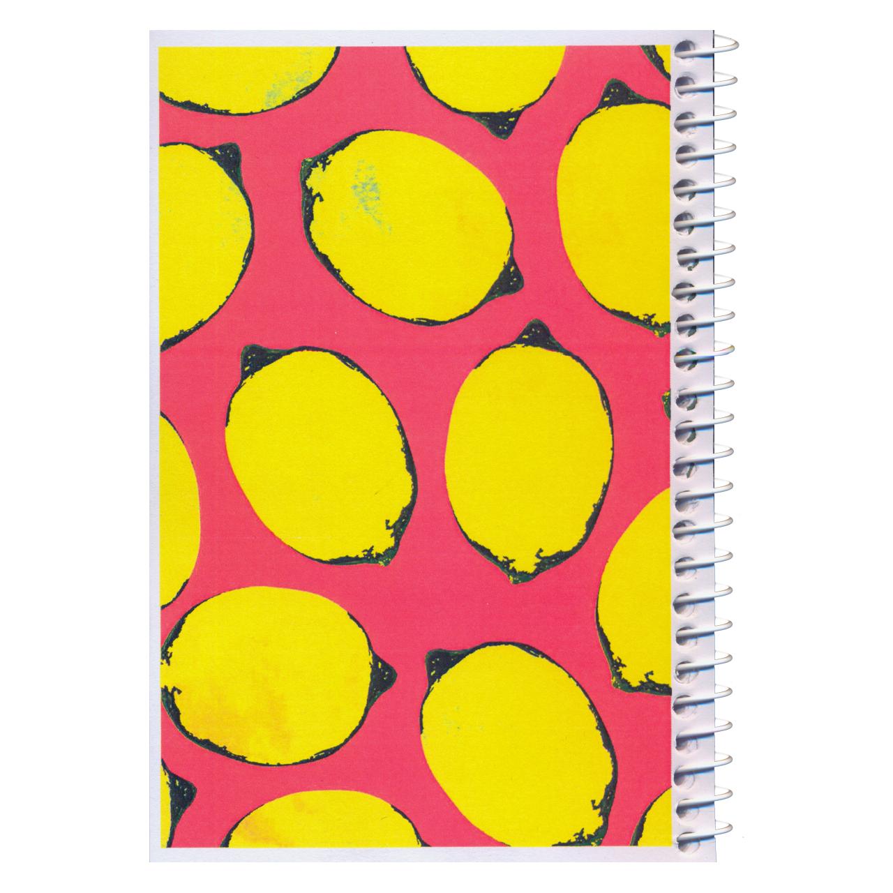 دفترچه یادداشت مدل کژوال طرح لیموهای خوش رنگ سایز متوسط