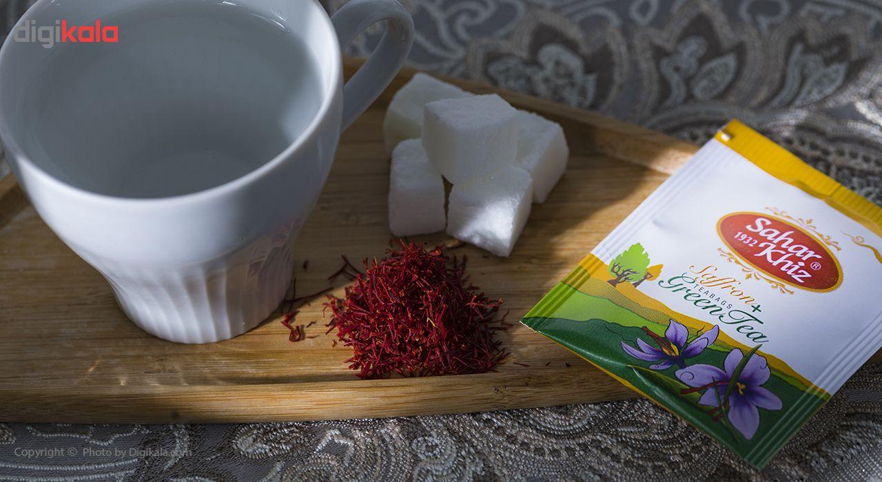 چای سبز کیسهای زعفرانی سحرخیز بسته 20 عددی main 1 7