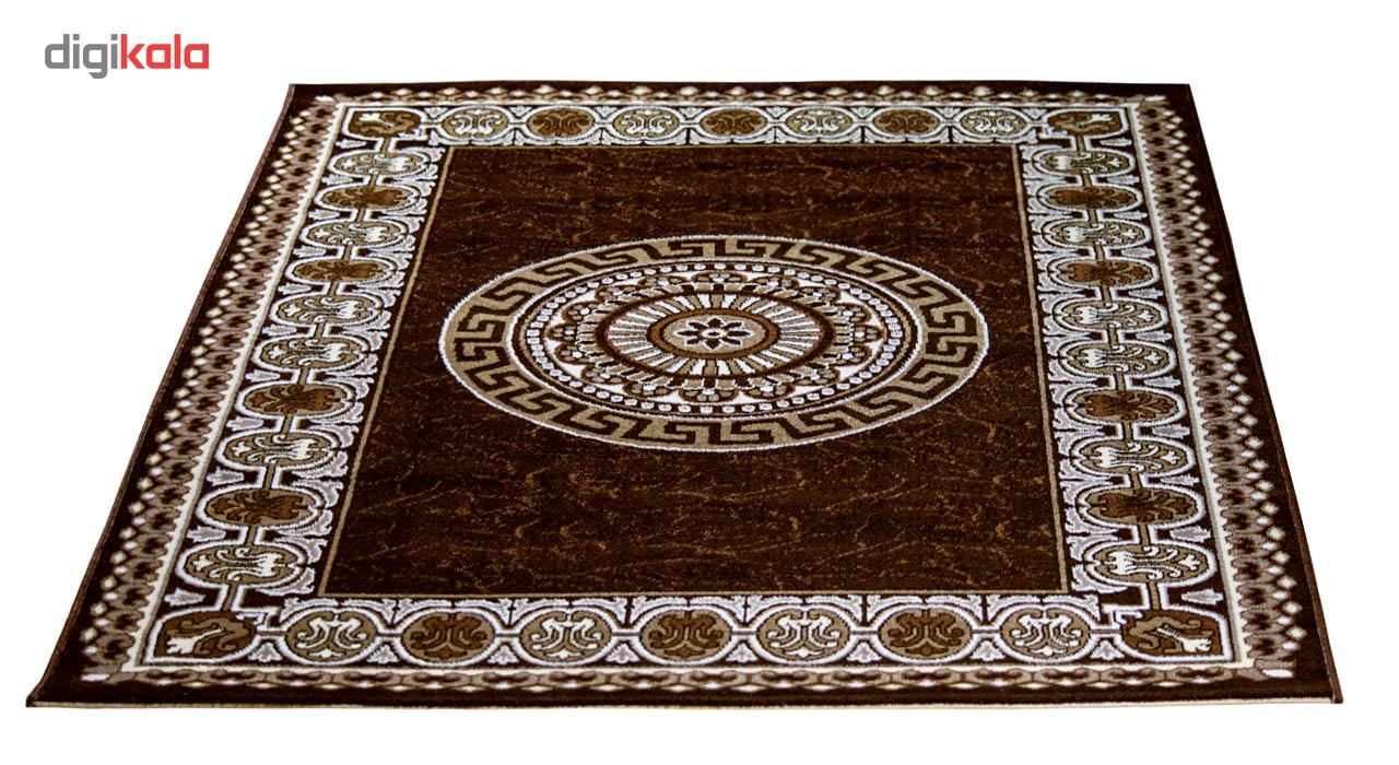 فرش ماشینی سهند کد SL26.XI زمینه قهوه ای