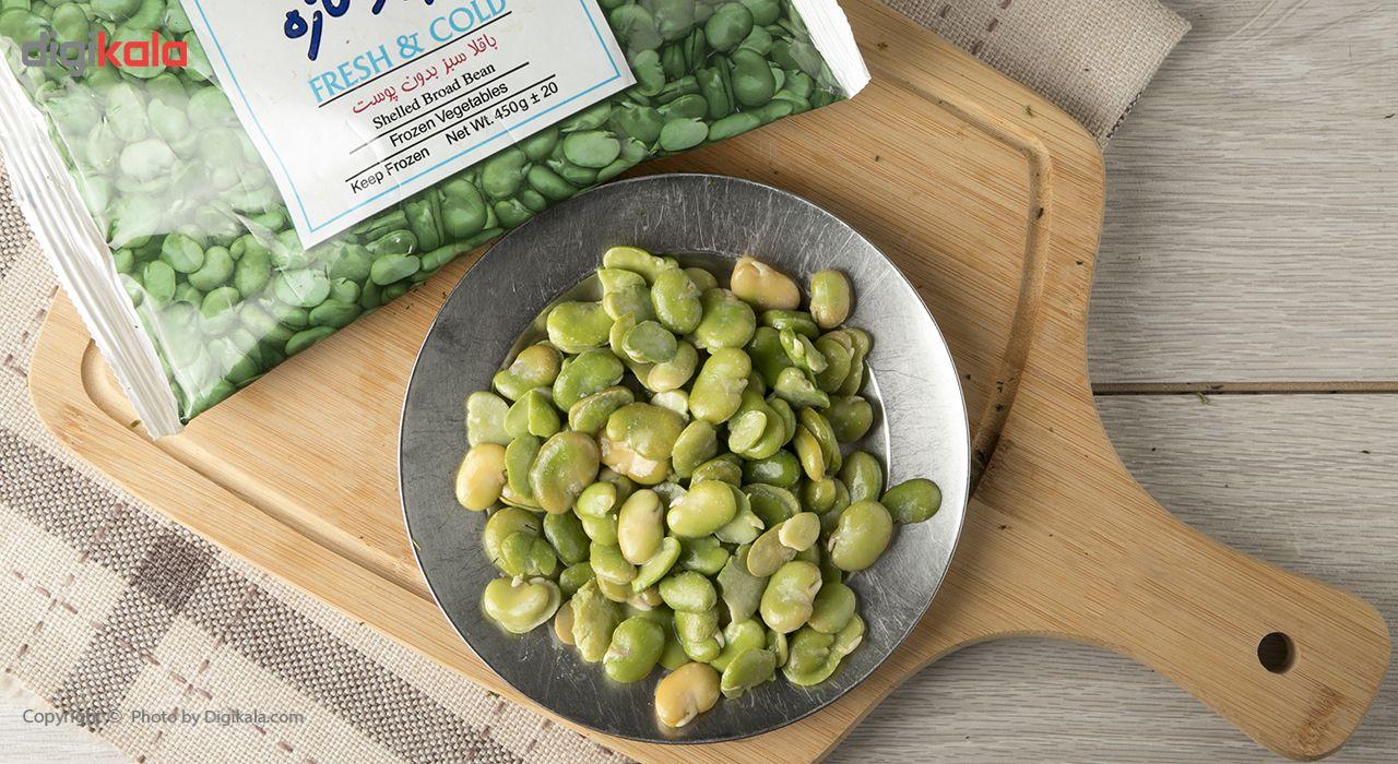 باقلا با پوست منجمد نوبر سبز مقدار 400 گرم main 1 2
