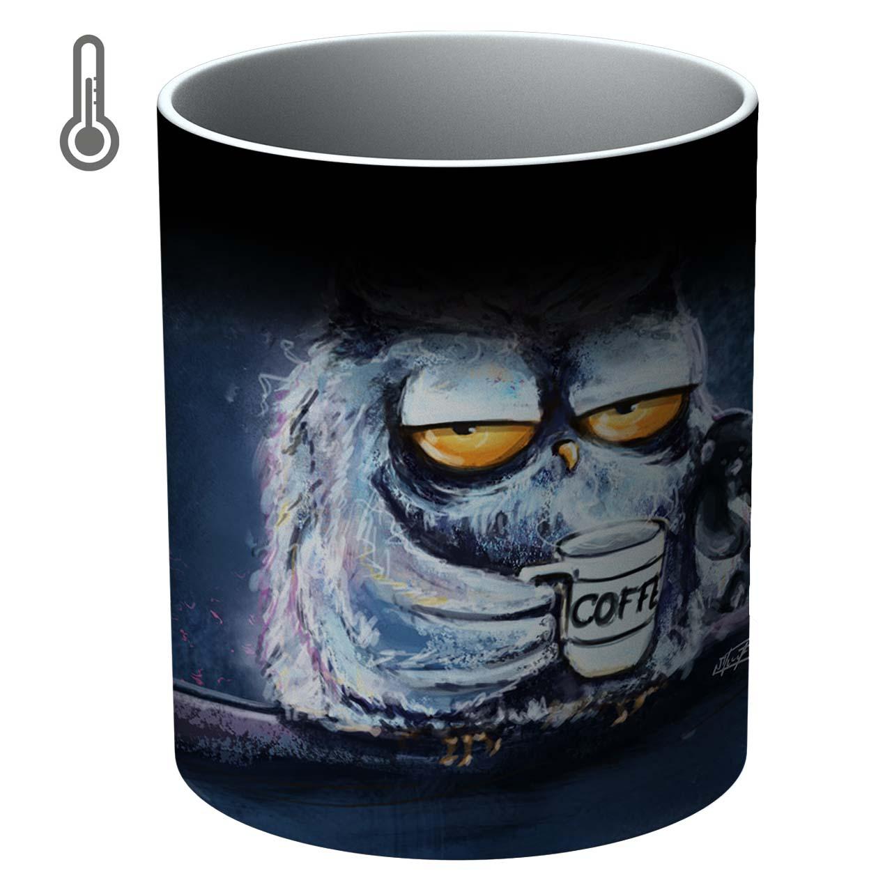 ماگ حرارتی آتوسا مدل جغد و قهوه Temp Owl 028