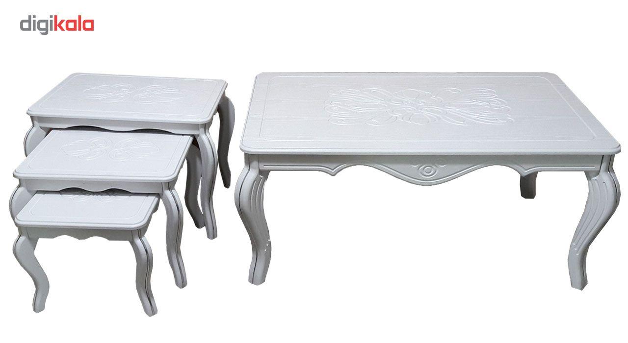 میز جلو مبلی و مجموعه سه عددی عسلی مدل وکیم ونیزw main 1 1