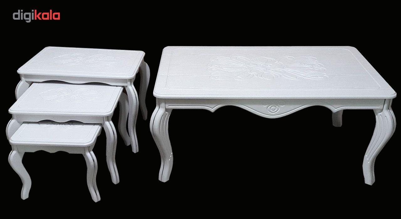 میز جلو مبلی و مجموعه سه عددی عسلی مدل وکیم ونیزw main 1 3