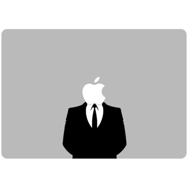 برچسب تزئینی ونسونی مدل Apple Anonymous مناسب برای مک بوک