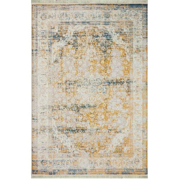 فرش ماشینی طرح پتینه کد afrand_1508 زمینه نقرهای