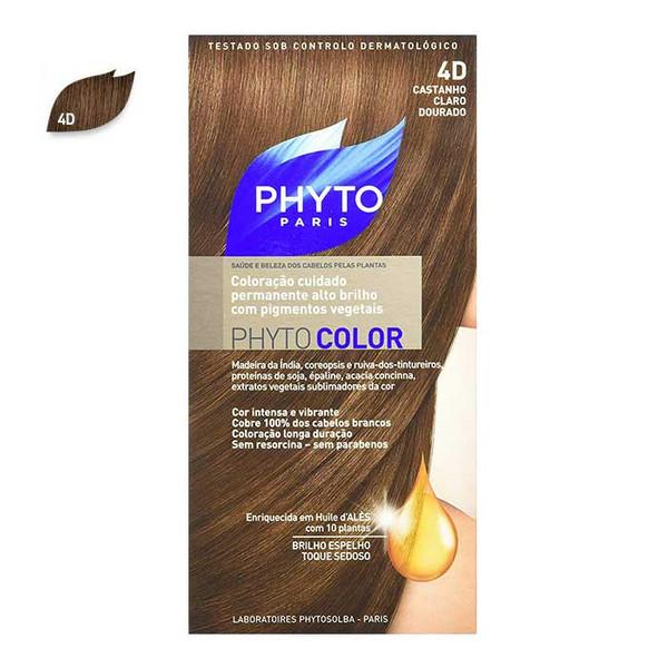 کیت رنگ مو فیتو مدل PHYTO COLOR شماره 4D حجم 40 میلی لیتر