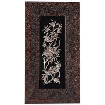 تابلو قلمزنی طرح گل و مرغ کد 149114