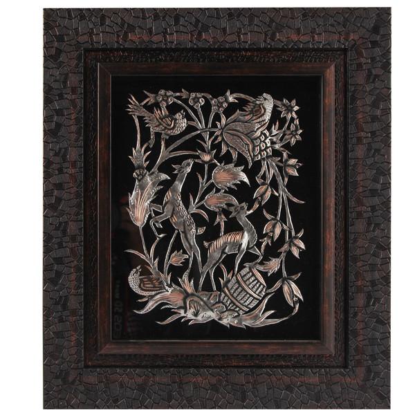 تابلو قلمزنی طرح گل و مرغ کد 149120