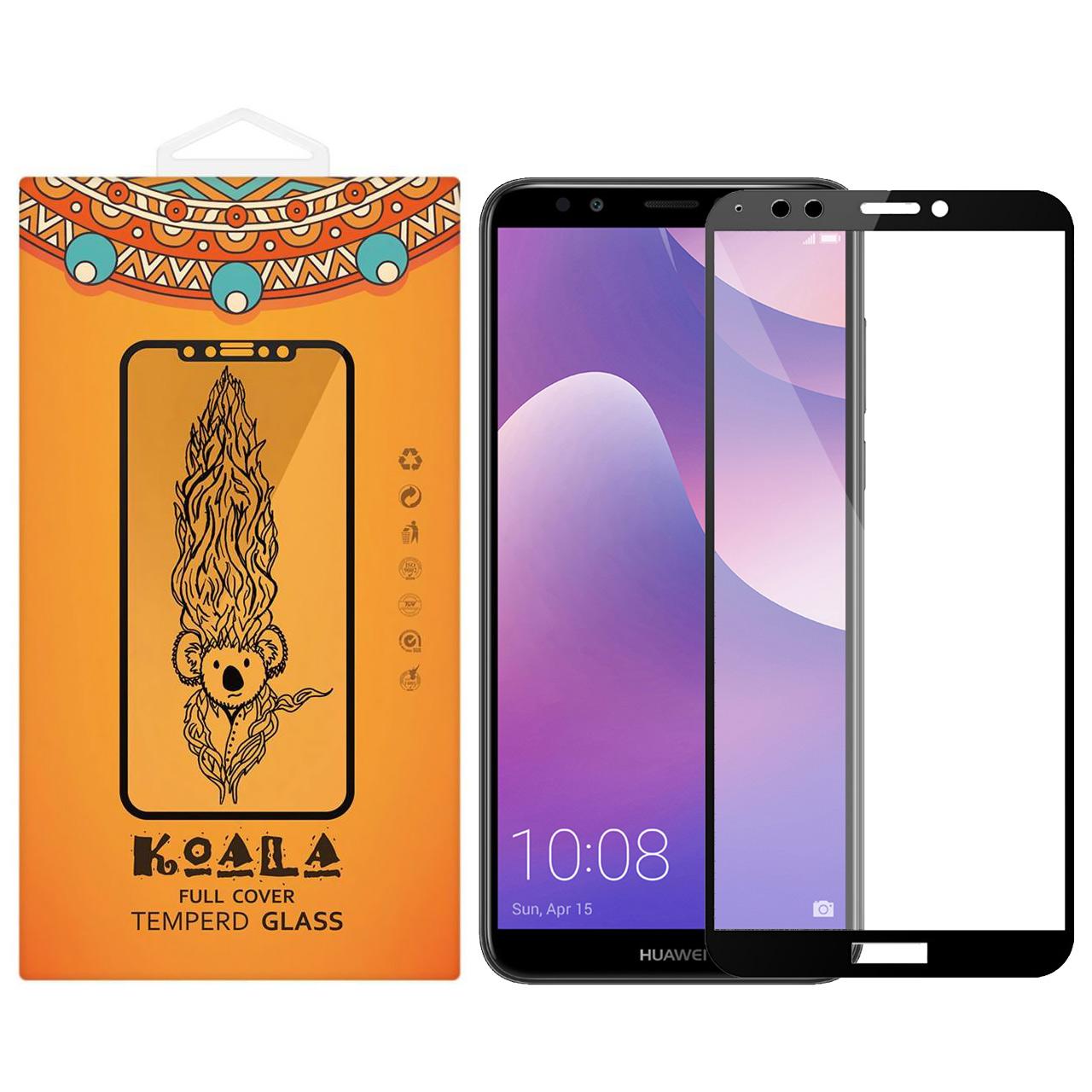 محافظ صفحه نمایش شیشه ای کوالا مدل Full Glue مناسب برای گوشی موبایل هوآوی Y7 Prime 2018