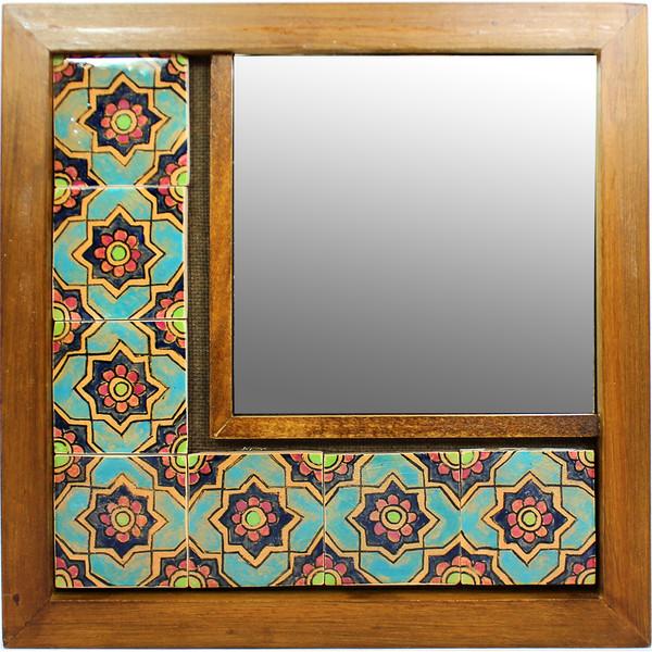 آینه دیواری گالری دست نگار مدل کاشی کاری کد 02-24