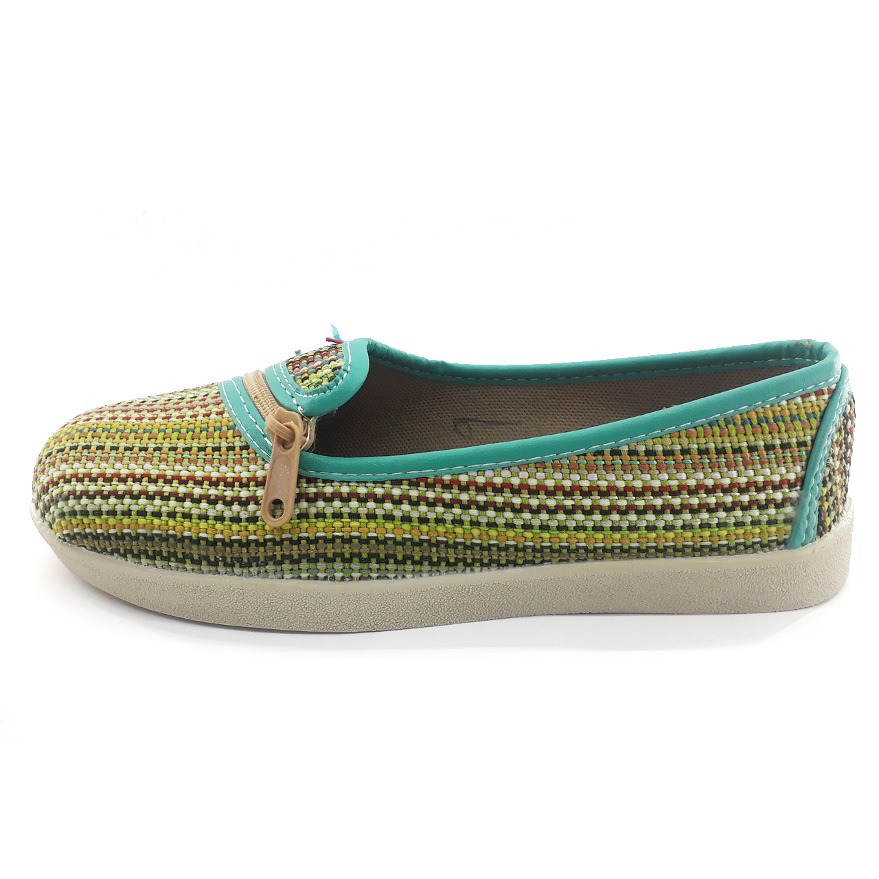 کفش زنانه طرح گلیمی زیپ دار مدل e2200
