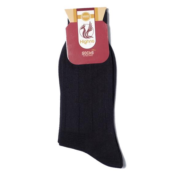 جوراب مردانه نانو آنتی باکتریال هاینو مدل 01-1072