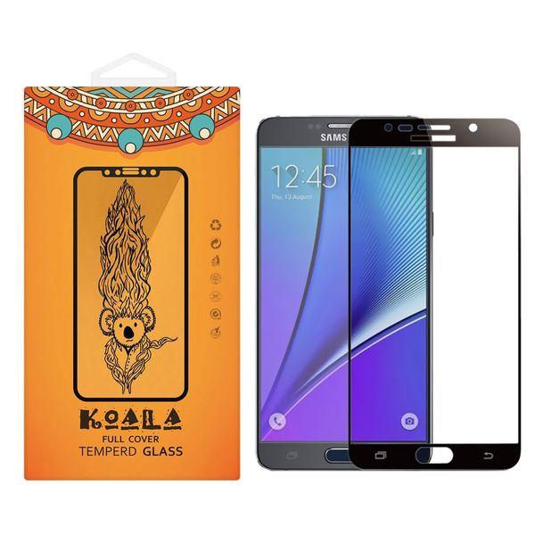 محافظ صفحه نمایش شیشه ای کوالا مدل Full Glue مناسب برای گوشی موبایل سامسونگ Galaxy Note 5