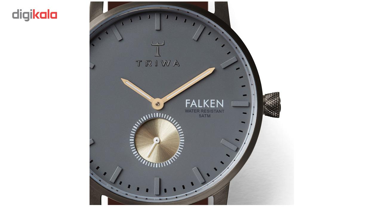 ساعت مچی عقربه ای تریوا مدل Walter Falken Brown